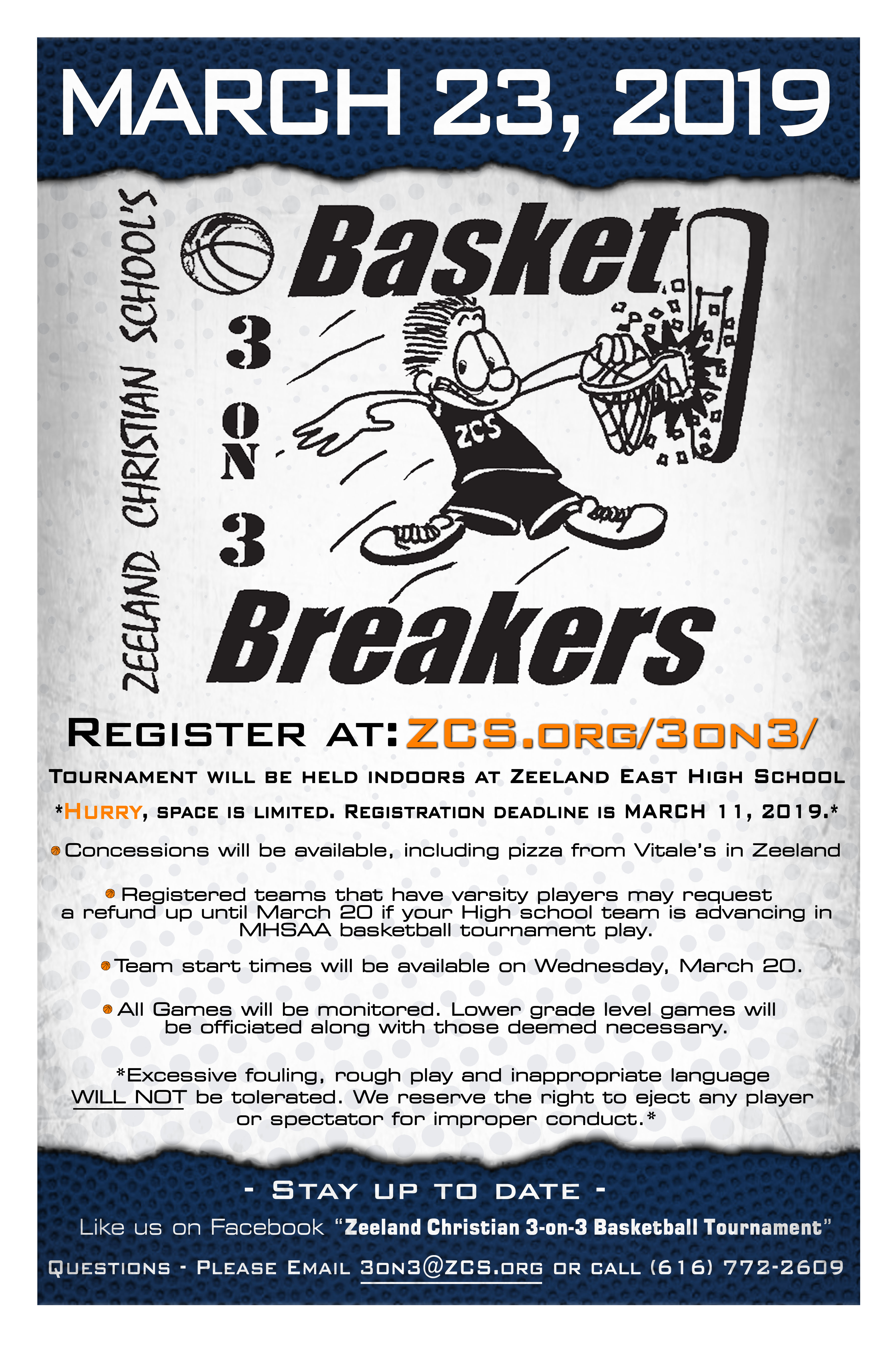 3-on-3 BBall - ZCS Poster 2019